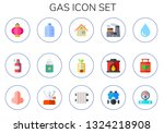 gas icon set. 15 flat gas icons.... | Shutterstock .eps vector #1324218908