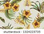 tropical vintage yellow... | Shutterstock .eps vector #1324223735