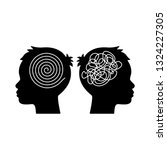 two heads of a person with the... | Shutterstock .eps vector #1324227305