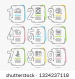 infographic template with... | Shutterstock .eps vector #1324237118