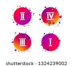 roman numeral icons. 1  2  3...   Shutterstock .eps vector #1324239002