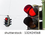 A Traffic Light With Red Light. ...