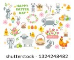 set of easter characters and... | Shutterstock .eps vector #1324248482