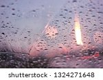 light of candle on the rain...   Shutterstock . vector #1324271648