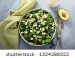 fresh spinach and feta salad... | Shutterstock . vector #1324288322