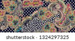traditional paisley and... | Shutterstock . vector #1324297325