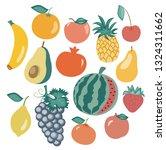 fruit set.vector illustration... | Shutterstock .eps vector #1324311662