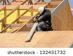 construction crew working on... | Shutterstock . vector #132431732