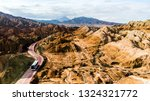 top view of rainbow mountains... | Shutterstock . vector #1324321772