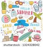 set of summer doodle collage | Shutterstock .eps vector #1324328042