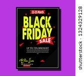 black friday flyer template... | Shutterstock .eps vector #1324329128