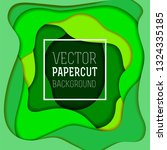 colorful abstract vector paper... | Shutterstock .eps vector #1324335185