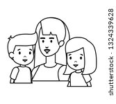 mother with daughter and son... | Shutterstock .eps vector #1324339628