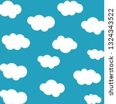 clouds sky pattern isolated on... | Shutterstock .eps vector #1324343522