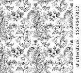 floral black and white seamless ...   Shutterstock .eps vector #1324347812