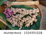a pile of ginger  for sell in... | Shutterstock . vector #1324351328
