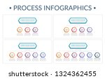 four porcess infographic... | Shutterstock .eps vector #1324362455