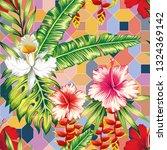 exotic botanical composition... | Shutterstock .eps vector #1324369142