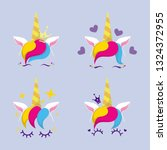 set collection of vector... | Shutterstock .eps vector #1324372955