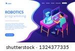 robotics engineer at desk with... | Shutterstock .eps vector #1324377335
