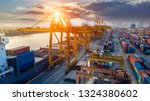 logistics and transportation of ... | Shutterstock . vector #1324380602