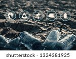 close up bottle plastic with... | Shutterstock . vector #1324381925
