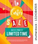 easter sale banner background... | Shutterstock . vector #1324384505