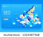 seo optimization for website... | Shutterstock .eps vector #1324387568