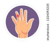 rheumatoid arthritis or... | Shutterstock .eps vector #1324393235