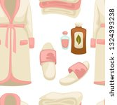 massage oil spa procedure... | Shutterstock .eps vector #1324393238