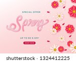 spring special sale background | Shutterstock .eps vector #1324412225