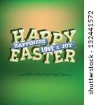 easter typography vector...   Shutterstock .eps vector #132441572
