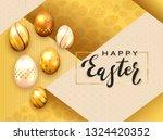 black lettering happy easter... | Shutterstock .eps vector #1324420352