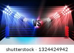 boxing ring arena and... | Shutterstock .eps vector #1324424942