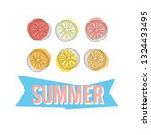 summer time  colorful lemons... | Shutterstock .eps vector #1324433495