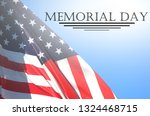 memorial day   remember and... | Shutterstock . vector #1324468715