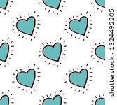 heart seamless pattern in hand... | Shutterstock .eps vector #1324492205