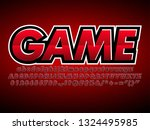 red e sport logotype  gaming... | Shutterstock .eps vector #1324495985