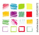 crayon hand drawing square  ... | Shutterstock .eps vector #1324523072