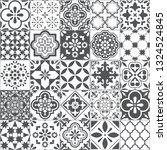 lisbon geometric azulejo tile...   Shutterstock .eps vector #1324524845