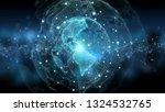 global network on planet earth... | Shutterstock . vector #1324532765