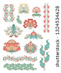 floral decorative elements in... | Shutterstock .eps vector #1324534628