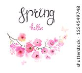 spring hello logotype with... | Shutterstock .eps vector #1324549748