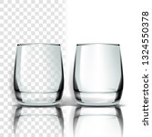 glass . empty clear glass cup.... | Shutterstock . vector #1324550378