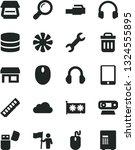 solid black vector icon set  ... | Shutterstock .eps vector #1324555895