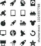 solid black vector icon set  ... | Shutterstock .eps vector #1324557788