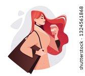 beautiful young girl in fashion ...   Shutterstock .eps vector #1324561868