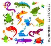 reptile vector animal reptilian ... | Shutterstock .eps vector #1324572872
