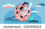 world population growth vector... | Shutterstock .eps vector #1324590215