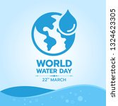 world water day banner with... | Shutterstock .eps vector #1324623305